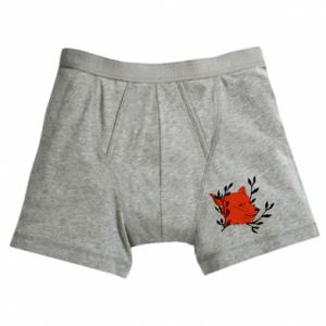 Boxer trunks Fox with closed eyes