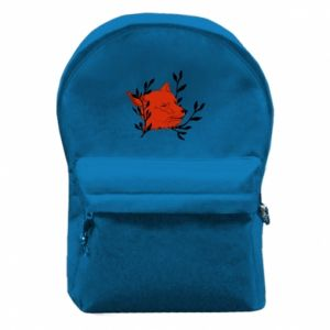 Backpack with front pocket Fox with closed eyes
