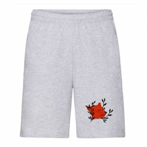 Men's shorts Fox with closed eyes
