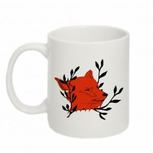 Mug 330ml Fox with closed eyes