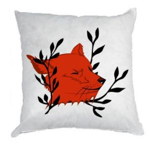 Pillow Fox with closed eyes
