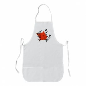 Apron Fox with closed eyes