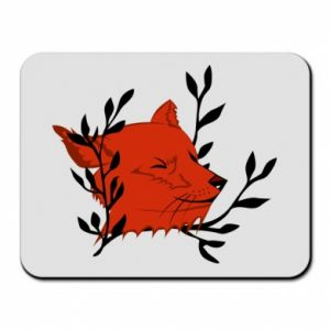 Mouse pad Fox with closed eyes