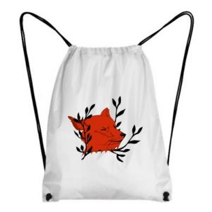 Backpack-bag Fox with closed eyes