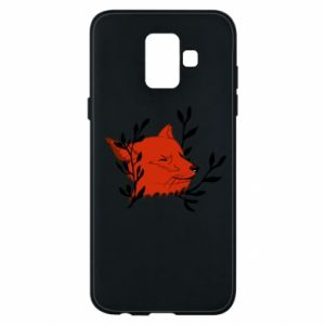 Samsung A6 2018 Case Fox with closed eyes