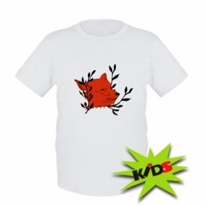 Kids T-shirt Fox with closed eyes