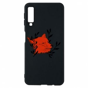 Samsung A7 2018 Case Fox with closed eyes