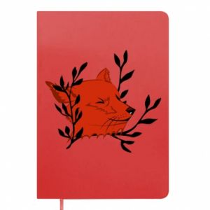 Notepad Fox with closed eyes