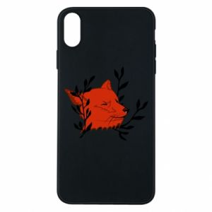 iPhone Xs Max Case Fox with closed eyes