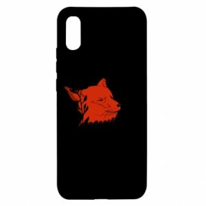Xiaomi Redmi 9a Case Fox with closed eyes