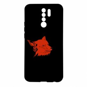 Xiaomi Redmi 9 Case Fox with closed eyes