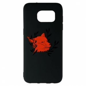 Samsung S7 EDGE Case Fox with closed eyes