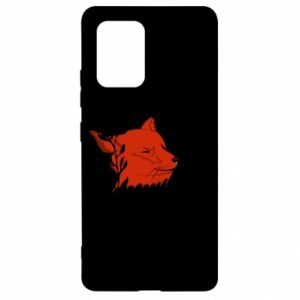 Samsung S10 Lite Case Fox with closed eyes
