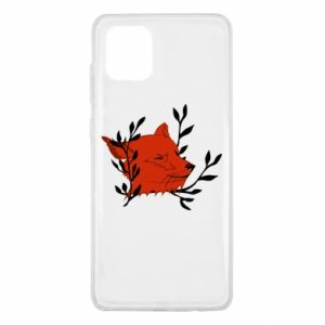 Samsung Note 10 Lite Case Fox with closed eyes