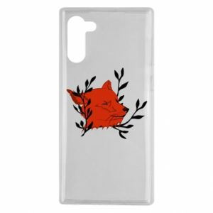 Samsung Note 10 Case Fox with closed eyes