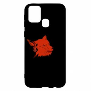 Samsung M31 Case Fox with closed eyes