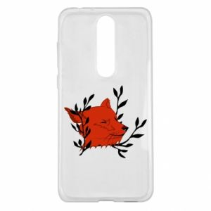 Nokia 5.1 Plus Case Fox with closed eyes