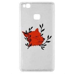 Huawei P9 Lite Case Fox with closed eyes