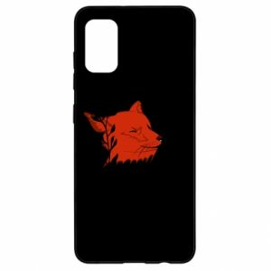 Samsung A41 Case Fox with closed eyes
