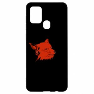 Samsung A21s Case Fox with closed eyes
