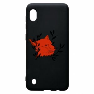 Samsung A10 Case Fox with closed eyes