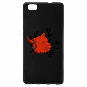 Huawei P8 Lite Case Fox with closed eyes