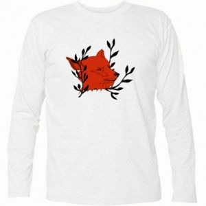 Long Sleeve T-shirt Fox with closed eyes