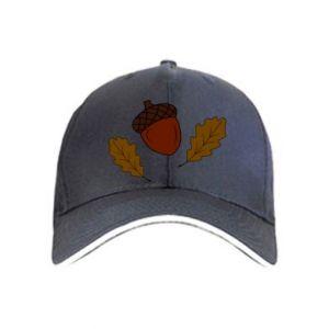 Cap Leaves and acorns