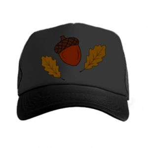 Trucker hat Leaves and acorns