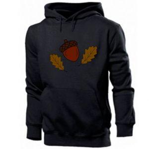 Men's hoodie Leaves and acorns