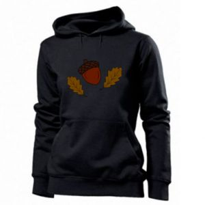 Women's hoodies Leaves and acorns