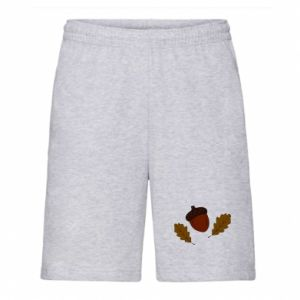 Men's shorts Leaves and acorns