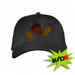 Kids' cap Leaves and acorns