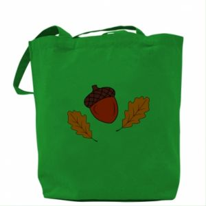 Bag Leaves and acorns