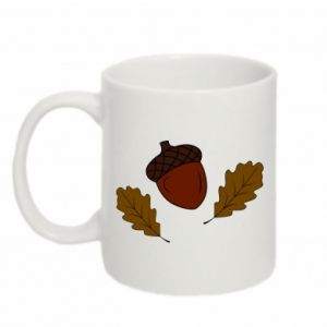 Mug 330ml Leaves and acorns