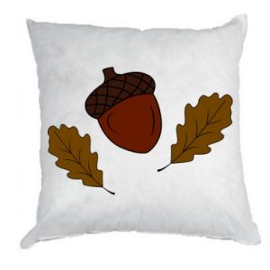 Pillow Leaves and acorns
