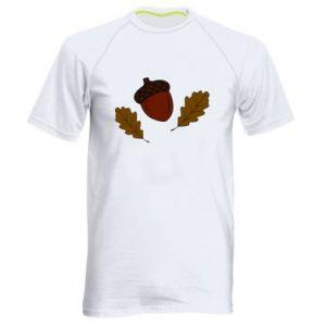 Męska koszulka sportowa Liście i żołędzie