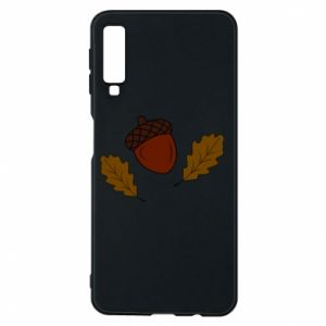 Phone case for Samsung A7 2018 Leaves and acorns