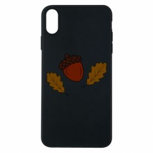Phone case for iPhone Xs Max Leaves and acorns
