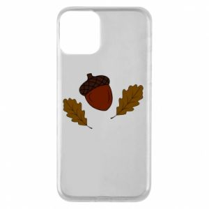 Phone case for iPhone 11 Leaves and acorns