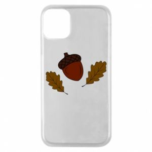 Phone case for iPhone 11 Pro Leaves and acorns