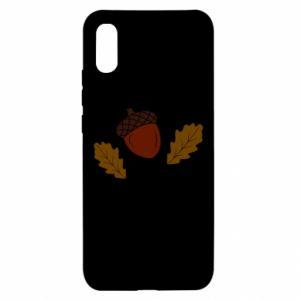 Xiaomi Redmi 9a Case Leaves and acorns