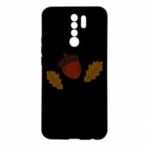 Xiaomi Redmi 9 Case Leaves and acorns