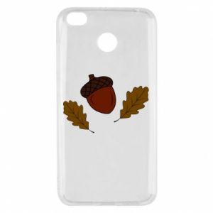 Xiaomi Redmi 4X Case Leaves and acorns