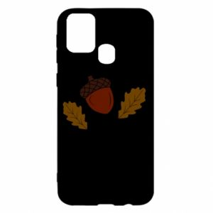 Samsung M31 Case Leaves and acorns