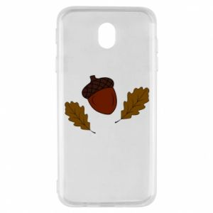 Samsung J7 2017 Case Leaves and acorns
