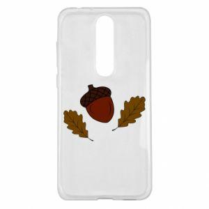 Nokia 5.1 Plus Case Leaves and acorns
