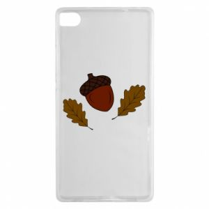 Huawei P8 Case Leaves and acorns