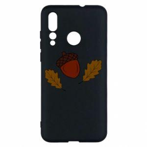 Huawei Nova 4 Case Leaves and acorns