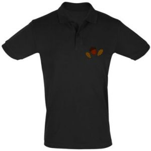 Men's Polo shirt Leaves and acorns